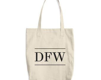 Canvas Tote Bag - DFW airport