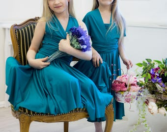 CHILD Infinity dress, Free-Style Dress, junior bridesmaid dress, girl dress, child dress, girl, toddler dress, convertible dress