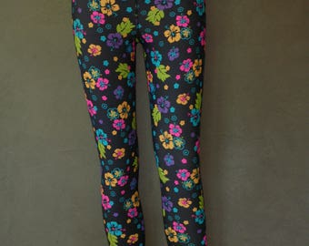 flowers leggings, yoga, fitness, crossfit, pilates, sport trainning, lycra stretch activewear