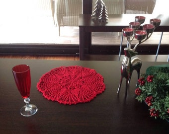 Crochet PATTERN Placemat Set N 105 TABLE DECOR