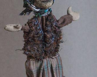 Designer's souvenir toy BABA YAGA in a mortar