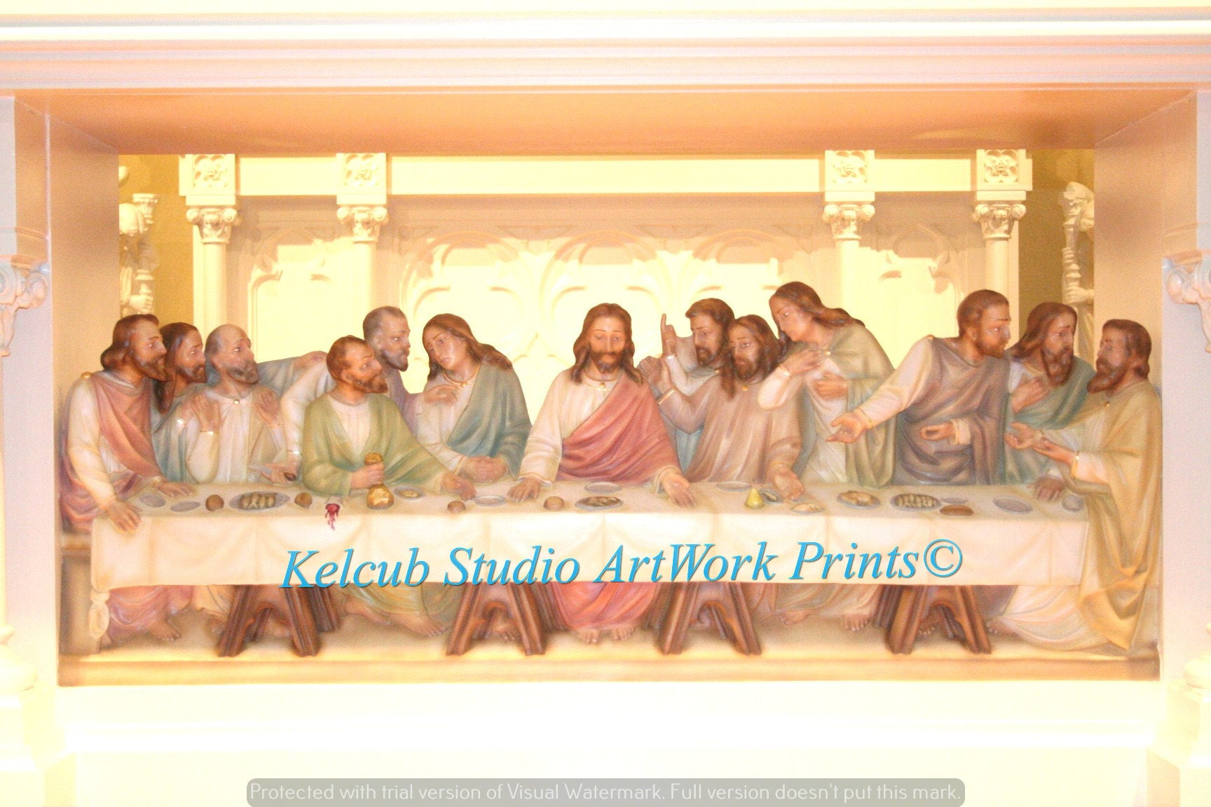 St. Kenan Art RARE Last Supper Print from Photographic Artist: