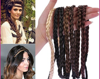 Customize Synthetic Hair Braid Elastic Headband (w/ 2 for 1 special)