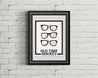 OLD TIME HOCKEY Poster Print | Inspired by The Hanson Brothers | Slapshot | 11x14