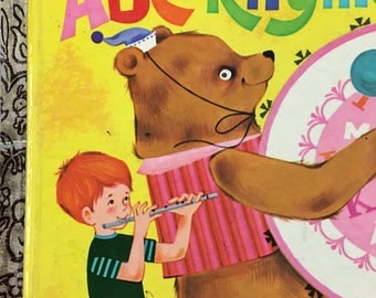 ABC Rhymes Little Golden Book by Carl Memling Copyright 1970 - 1973 Edition - NO name in front cover or other marks great condition #543