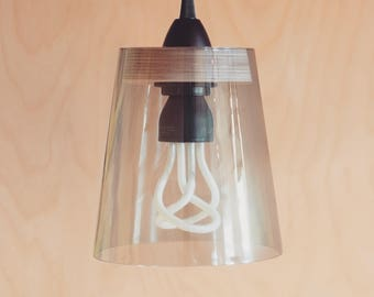 T1 Glass and Plywood Pendant Light Shade