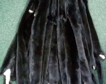 Mink pelt black, mink skin black, mink fur