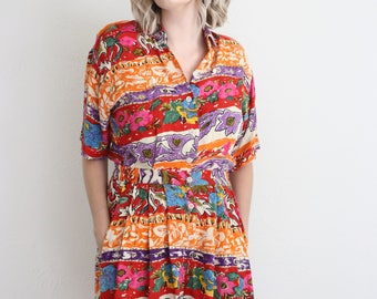Vintage cozy romper with elastic waistband