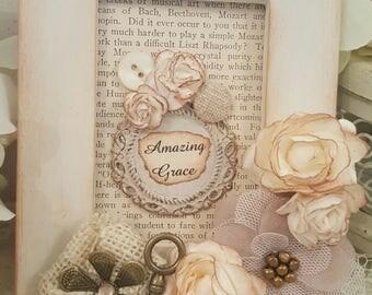 Inspirational Framed Art Piece - Amazing Grace