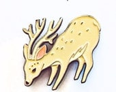 Enamel Pin DEER PIN deer enamel pin, deer brooch, pins enamel pin, hat pins and patches, pins for backpacks, backpack pins, pins and buttons
