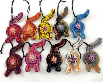 Rainbow Cat Butt Ornament Set of 10