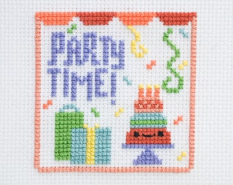 Party Time - Set of 30 Celebration Cross-Stitch Charts/Patterns