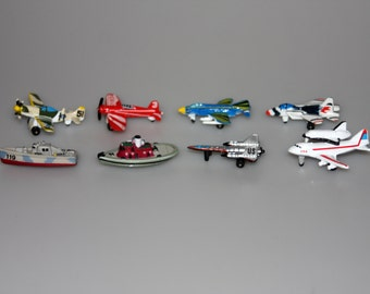 Micro Machines Galoob Lot of 8 Aircraft Boat Vehicles Vintage 1980s