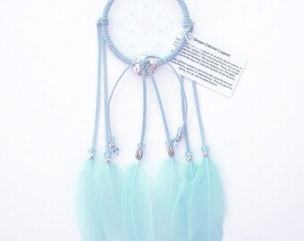 Light Blue Dream Catcher, Goose Shoulder Feathers