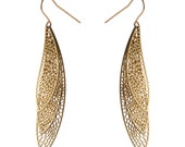 Lacewing Earrings | etched brass | Corollaria collection