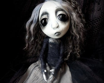 Loopy Southern Gothic Art Doll Victorian Dark Goth Ghostly Azure