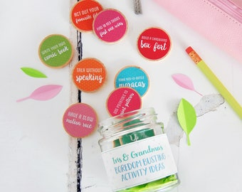 Grandma And Me Personalised Boredom Busting Activity Tokens Jar - Mother's Day Gift - Grandmothers Day Gift - Nanny Keepsake