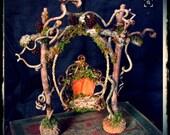 Faerie Queen Swing custom order, faery swing, natural materials faery swing