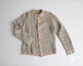 1930s cardigan | boucle wool sweater | 1930s sweater
