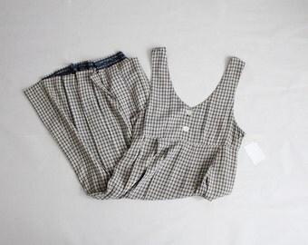 jumper dress | 90s gingham jumper | long plaid dress