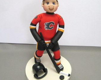Hockey Player Sports Personalized Cake Topper Figurine Custom Made To Order