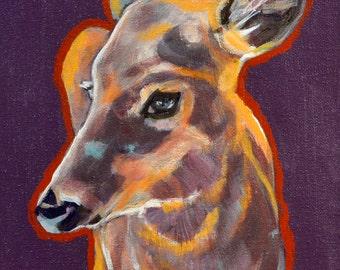 An Acrylic Painting of a Doe