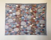 Jacquard woven panel, Grey Stones, by Laura Foster Nicholson. Free Shipping.