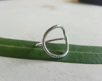 Stria Formation Ring in Sterling Silver
