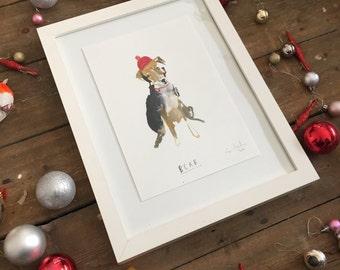 Custom Pet Portrait. Wonky funny Pet portrait commission    FAYE MOORHOUSE WONKYPETPORTRAIT