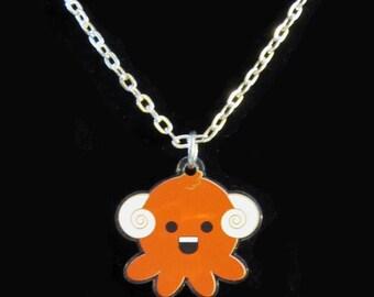 Western Zodiac Aries Octopus Necklace