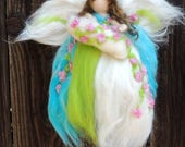 Created for Rene - Needle felted Blooming Pastel Mommy By Rebecca Varon - blessing angel made to order -