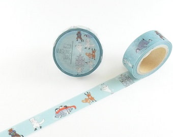 Animal Skate Washi Tape Mirikuroreru Round Top Masking Tape MI-MK-008