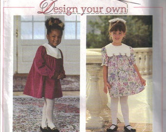 Child's Dress 'Design your own' Vintage Sewing Pattern. Sizes: 5, 6, 6X. Simplicity 9376