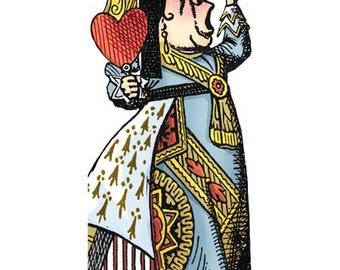 Alice in Wonderland Queen of Hearts Notecard with Stickers