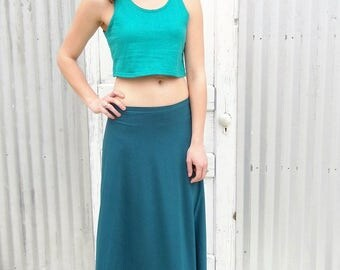 Long Wrap Skirt made from ORGANIC COTTON and Bamboo or Soy - Custom Size Wrap Skirt - Full Length Summer Skirt by Yana Dee