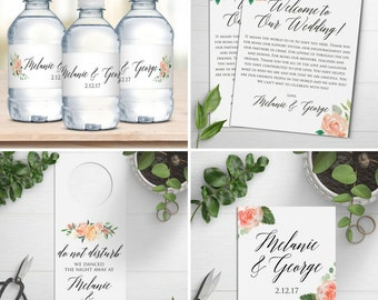 Wedding Welcome Bag Kits Water Bottle Labels Amp By Designedbyme