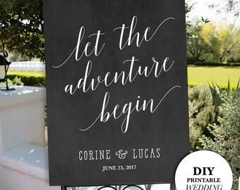 Printable Wedding Welcome Sign, Welcome Wedding Sign, Chalkboard Wedding Sign, DIY Wedding Sign, Wedding Welcome Sign, DIY Printable