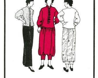 Park Bench Pattern Company No. 6 Golden Gate Park Dress Jumpsuit Harem Skirt Top Mandarin Collar Pants Uncut Sewing Pattern 1995