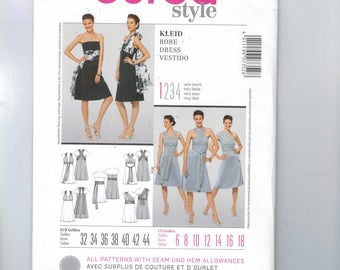Misses Sewing Pattern Burda 7352 Misses Dress with Wrap Around Sash Convertible Easy Size 6 8 10 12 14 16 18 UNCUT