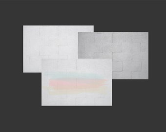 Digital Photo Download Painted Cinder Block Wall Styled Background Mock Up in White, Grey and with Light Pastel Colors Brush Strokes