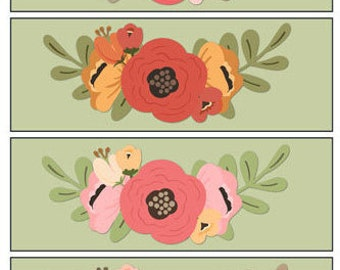 Flower Bookmarks 1