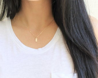 Tiny Gold Initial Necklace, Personalized Necklace, 1, 2 or 3 Initial Necklace, Dainty Necklace, Initial Jewelry, Letter Charm Necklace