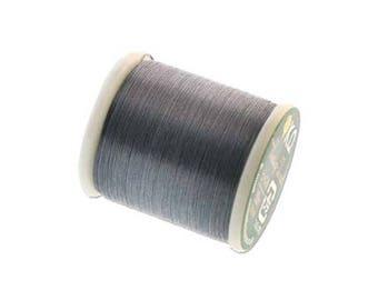 K.O. Beading Thread, Dark Gray Japanese Beading Thread 43342 55 yd, KO Beading Thread, Size B Beading Thread, Pre-Wax Nylon Beading Thread