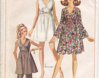 Vintage Pattern Simplicity 8033 Dress and Pants 60s Size 12 B34
