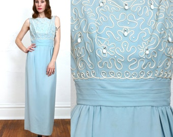 SALE Blue Maxi Dress Formal Gown