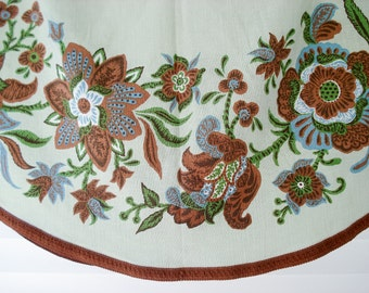 FOUND IN SPAIN -- Large round tablecloth