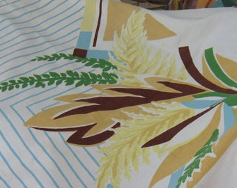 Vintage Atomic Modern Tablecloth Tropical