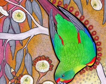Swift Parrot as Totem - Original Art