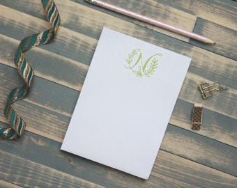 Personalized Monogram Notepad | Laurel Letter Personal Memo Pad | Gift for Her | Christmas Gift | Teacher Gift | Vine Letters