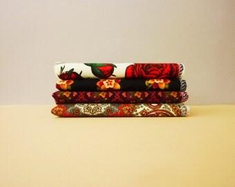 Ladies Handkerchief - Twilight Rose - Mothers Day Gift - Womens Handkerchief - Soft Paperless Reusable Kleenex - Gift For Mom - Cloth Tissue